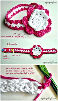 How To Free Crochet Seed Stitch Baby Headband Pattern - Crochet Headbands for Babies - 28 Free Patterns - DIY & Crafts