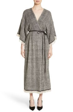 Main Image - Adam Lippes Fringe Trim Twill Woven Dress