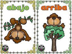 SGBlogosfera. María José Argüeso: Opuestos Preschool Spanish, Learning Spanish For Kids, Elementary Spanish, Learning Time, Spanish Classroom, Teaching Spanish, Elementary Schools, Learn Spanish, Montessori Activities