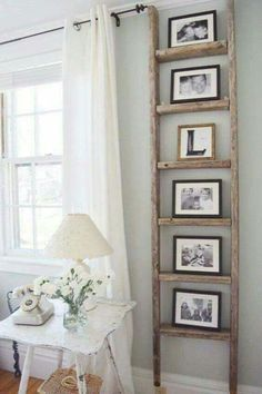 30 charming farmhouse living room design and decoration ideas for your home . - room room home decor lighting room decor room decor wall office decor ideas decoration design room Antique Ladder, Vintage Ladder, Decor Vintage, Rustic Decor, Rustic Style, Rustic Ladder, Vintage Style, Country Decor, Diy Ladder