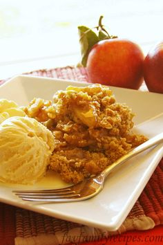 Apple Crisp - can't wait to try this one (Erica never lets me down!).
