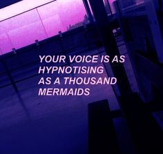 "violetellipse: ""You're voice is as hypnotizing as a thousand mermaids🔮💭 "" Dark Purple Aesthetic, Violet Aesthetic, Aesthetic Colors, Aesthetic Images, Quote Aesthetic, Aesthetic Wallpapers, Aesthetic Collage, Lilac Sky, Purple Rain"