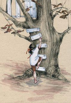 Ilustración de Imagínate, Andrea