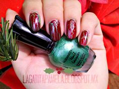 christmas red and green nails