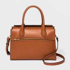 Flap Closure Satchel Handbag - A New Day™ Fall Maple : Target Fall Handbags, Cheap Handbags, Satchel Handbags, Luxury Handbags, Purses And Handbags, Summer Handbags, Ladies Handbags, Prada Handbags, Handbags Online