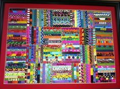 Kid's Popsicle Art- would be a cool way to make a piece of art! Have students decorate thier own Popsicle stick for beginning of year activity...or a cool mural by all my 700+ students!!!