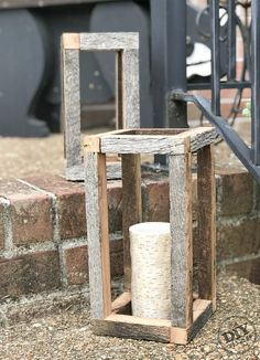 Have some old barnwood laying around but aren't sure what to do with it? Try your hand at an rustic barnwood lantern. It's a fast and easy project.