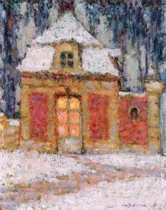 Henri Le Sidaner Snow, Versailles
