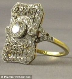 Jewels of Titanic to be Displayed as Collection for First Time Since RecoveryThis beautiful, hand-made platinum, 18 ct. gold and diamond ring probably belonged to one of Titanic's first-class passengers. During the formal dinners onboard, this ring woul...