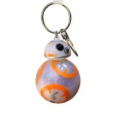 Star Wars Force Awakens BB-8 Keychain w/ Lights & Sound Disney Parks Exclusive The cutest BB-8 yet!! Now you can take BB-8 everywhere with you, this adorable BB-8 keychain lights-up and talks with jus