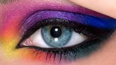 Eye Makeup. Electric Palette Tutorial Urban Decay. Jordan Liberty. Modeled by Brooke Quinn. Rainbow Eyes