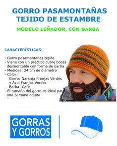 W1007 Gorro Pasamontañas Estilo Leñador Con Barba Tejida -   119.00 en  MercadoLibre fbb98d4ac5d