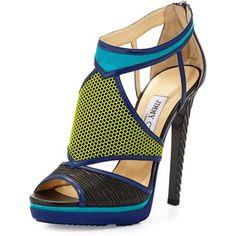 ac1f419c574499 Jimmy Choo Lythe Mixed-Media Platform Sandal Jimmy Choo Shoes
