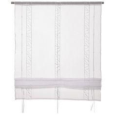 """Mit dem Raffrollo """"Alica"""" von ESPOSA können Sie Ihre Fenster optimal in Szene setzen. Das chice Wohnaccessoire mit einer Breite von ca. 80 cm ist in der Länge universell einstellbar. Das transparente Rollo besticht durch eine schlichte Gestaltung in Weiß. Überzeugen Sie sich von diesem praktischen Raffrollo von ESPOSA!"""