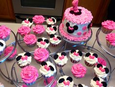 Minnie Mouse Smash Cake and Cupcakes