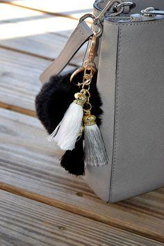 Soft and Fluffy Faux Rabbits Fur Keychain / Fur Ball Keychain / black fur keychain by ZEnella on Etsy https://www.etsy.com/listing/275632036/soft-and-fluffy-faux-rabbits-fur