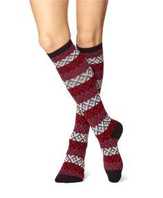 Geo Stripe Knee Sock