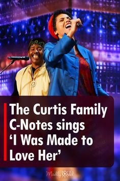 """A 7 piece band known as The Curtis Family C-Notes performed on America's Got Talent. They were a family of two adults and five kids. Dressed in bright colors and interesting patterns akin to the 70s era, they impressed the judges as soon as they walked out. Their cover of """"I Was Made to Love Her,"""" was electrifying. #AGT #AmericasGotTalent #Music #Band #Singing America's Got Talent Videos, Love Her Madly, C Note, Group Of Seven, Tyra Banks, Word Families, Judges, Bright Colors, Compliments"""