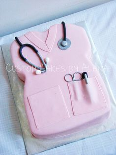 Nurse cake... why am i obsessed with a cake for @Jordyn Toomey ? because she got all of us amazing cakes for out 21st's thats why.