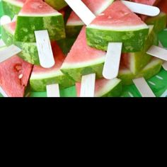 Watermelon on a stick for the kids table