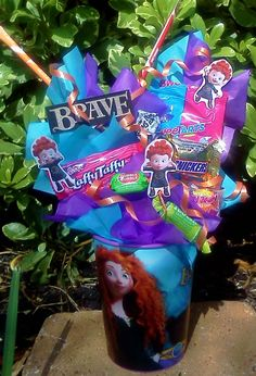 BRAVE Kids Candy Party Favors Made to Order. $4.75, via Etsy.
