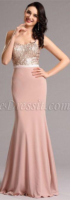 Sequin bodice evening gown! #edressit #formaldress #eveningdress #fashion   eDressit   2016 Gowns   Pinterest