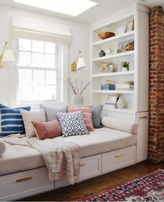 Home Office Guest Room Daybed Pillows 60 Ideas For 2019 Daybed With Storage, Storage Bench Seating, Corner Seating, Office Seating, Corner Bench, Cozy Corner, Kitchen Bench Seating, Kids Room Furniture, Bedroom Furniture