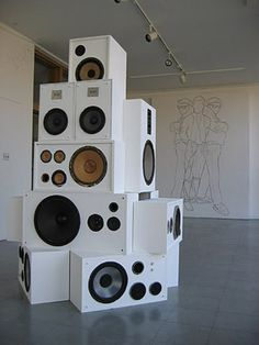 FFFFOUND! | VVORK Sound Speaker, Speakers, Wall Of Sound, Tiger Balm, Inspire Me Home Decor, Wall Drawing, Audio Equipment, Office Interiors
