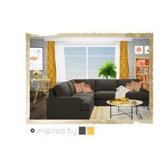 inspired by gray and yellow by oh-ba on Polyvore featuring interior, interiors, interior design, Casa, home decor, interior decorating, Levin, Ethan Allen, Linie Design and Rizzy Home