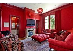 Luxurious red decor  55 Red Gate Rd, Harding Twp., NJ