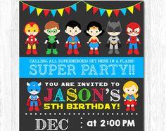 Invitación de cumpleaños del Super héroe / por CALULAShopDesign