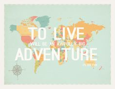 To Live World Map 24x18 Wall Art Print Wood by ChildrenInspire