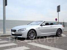 BMW 640 Cabrio for hire in Barcelona and other parts of the Western Europe. To hire BMW 640 Cabrio call us: +34 952 773943