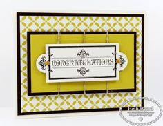Congratulations by My Little Craft Blog Stampin' Up! Layered Labels