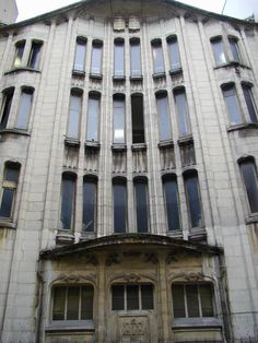 Paris, France: synagogue, 10 Rue Pavee: facade (1913, architect Hector Guimard)