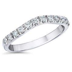 Round Brilliant 0.37 ctw VS2 Clarity, I Color Diamond Platinum Morgan Wedding Band