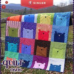 Quilt de ositos #peques #quilt #colores #peques #mantita - Singer México