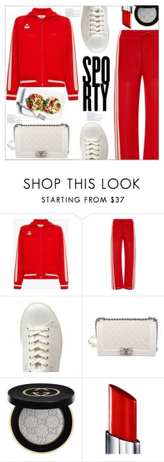 """Sporty"" by queenvirgo ❤ liked on Polyvore featuring Étoile Isabel Marant, Isabel Marant, Chanel, Gucci and By Terry"