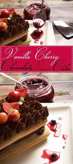 Vanilla Cherry Chocolate Gluten Free and Vegan Cake made in Holstein's Pound Cake Maker