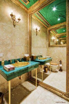 $114M mansion on Manhattan's Upper East Side.  Malachite countertops.    ᘡղbᘠ