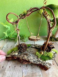 diy outdoor miniature fairy garden ideas 2 ⋆ Home & Garden Design Garden Gazebo, Fairy Garden Houses, Diy Fairy Garden, Diy Gazebo, Balcony Gardening, Fairy Gardening, Garden Gnomes, Fairies Garden, Veg Garden