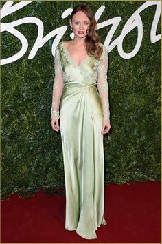 Laura Haddock * Eyes that speak and dress that hits: Laura Haddock and Ermanno Scervino are all the rage at the British Fashion Awards 2014