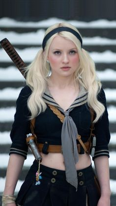 Emily Browning in Babydoll Cos. is listed (or ranked) 3 on the list Hottest Emily Browning Photos Jena Malone, Emily Browning, Sucker Punch, Jamie Chung, Carla Gugino, Vanessa Hudgens, Sara Foster, Photographie Portrait Inspiration, Abbie Cornish