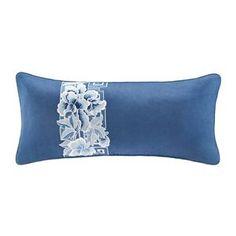 N Natori Blue Porcelain Oblong Pillow