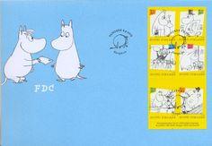 6.5.2009: Muumit sarjakuvissa (postimerkkivihko 6 x 1. lk.)