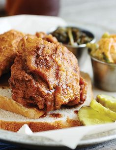 Most every Hot Chicken devotee has his or her own recipe, and the ingredients are always closely guarded. This Hot Chicken recipe is traditional in flavor and spice but includes dry mustard and sugar.