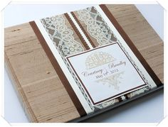 Wedding Guest Book, custome made in colors of your choice!