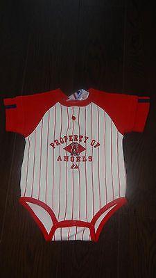La Anaheim Angels Majestic Baseball Romper Outfit Shirt Baby Size 6 9 Mos   eBay