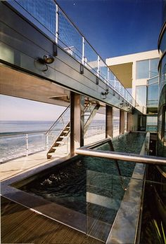 Malibu With A View  A stainless steel pool to fit the unique design of the ocean front home.