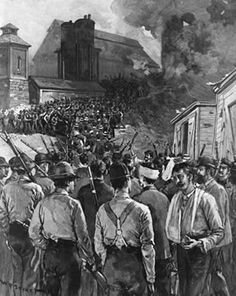 This is a picture of the Homestead Strike. Many other workers and I went on strike due to a pay cut of about 23%.